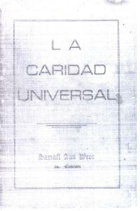Portada original del libro La Caridad Universal del VM Samael Aun Weor