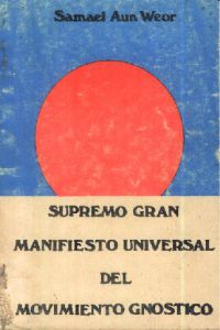 Portada original del libro Supremo Gran Manifiesto Universal del Movimiento Gnóstico del VM Samael Aun Weor
